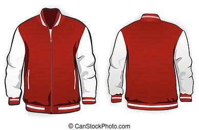 giacca, sport, template., varsity, o