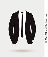 giacca, sposi, equipaggiamento, completo