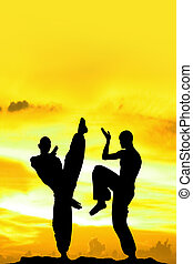 giallo, arti marziali, fondo