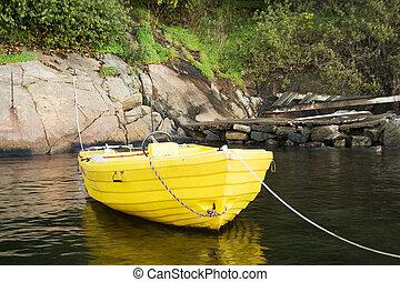 giallo, barca