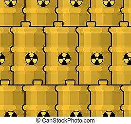 Barili Biohazard Motivi Dello Sfondo Dump Giallo Seamless