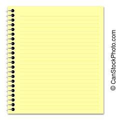 giallo, blocco note