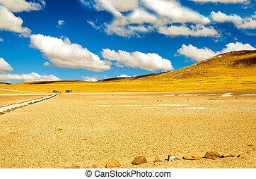giallo, cileno, paesaggio