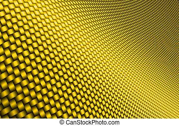 giallo, curva, carbonio, fibra