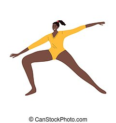 giallo, illustrazione, stile, mostra, afro-american,...