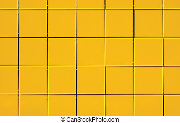 giallo, metallico, facciata, pannello, fondo