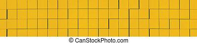 giallo, metallico, facciata, pannello, fondo, panorama