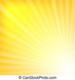 giallo, raggi, struttura, fondo