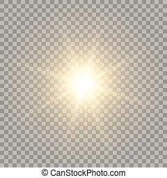 giallo, realistico, sole