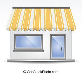 giallo, storefront, tenda