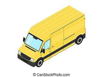 giallo, van.