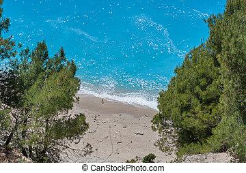Gialos beach at the Lefkada