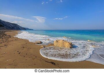 Gialos beach. Lefkada, Greece