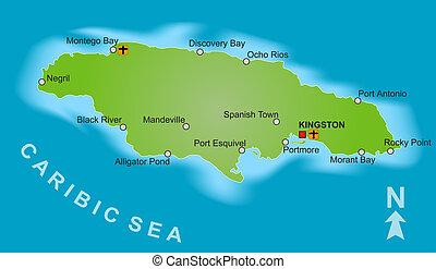 giamaica, mappa