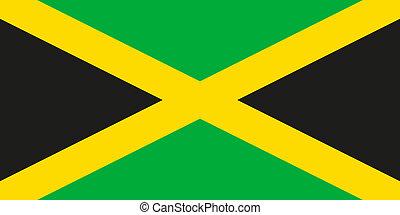 giamaica, nazionale, ufficiale, bandiera, colori