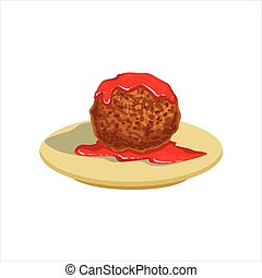 Gian Meatball With Tomato Salsa Traditional Mexican Cuisine ...