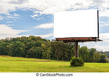 Giant Blank Billboard in Autumn Setting With Copy Space