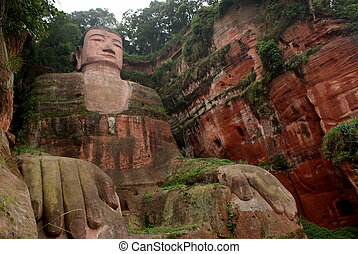 Giant Buddha in Leshan, China - Giant Buddha in Leshan,...