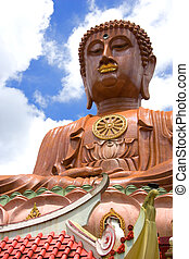 Giant Buddha - Giant buddha statue built on top a temple in...