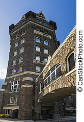 Giant Castle Building of Banff Springs Hotel