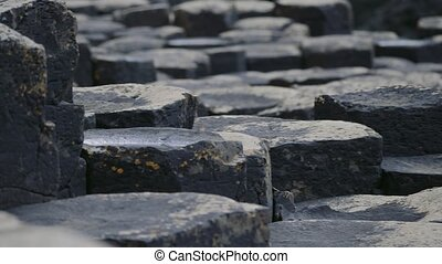 Giant Causeway Basalt Columns, Northern Ireland - Graded...