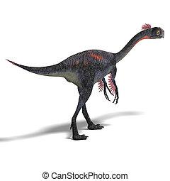 giant dinosaur gigantoraptor - dangerous dinosaur...