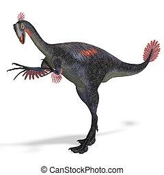 giant dinosaur gigantoraptor - dangerous dinosaur ...