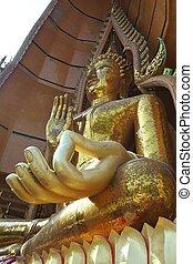 giant golden image of Buddha