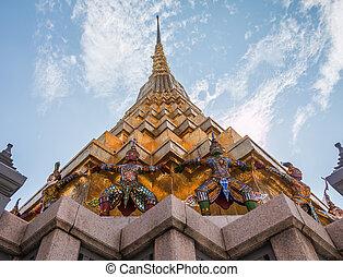 Giant Guardian in Wat Phra Kaew temple ,bangkok, thailand