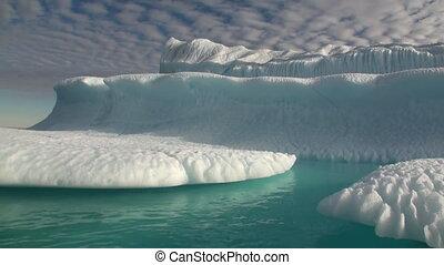 Giant iceberg closeup ocean in Arctic.