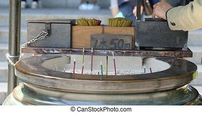 Giant incense burner - Close up of a large Jokoro. Incense...