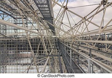 Giant metal construction frame