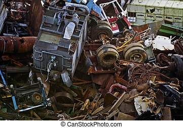 Giant Mountain of Scrap Metal