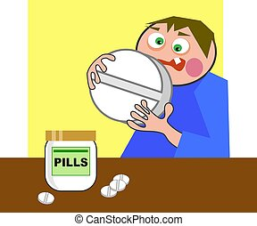 Giant Pill - That\\\'s a big pill to swallow.