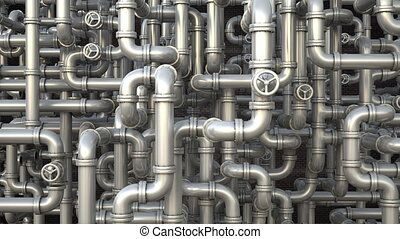 Giant pipeline with valves