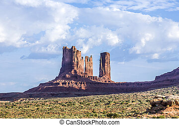 giant sandstone formation in the Monument valley -...