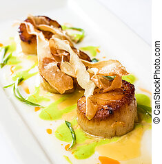 Giant Scallops Appetizer