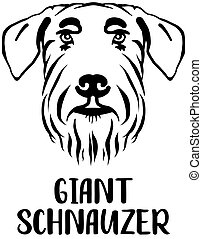Giant Schnauzer head with name