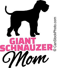 Giant Schnauzer Mom with dog silhouette