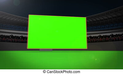 Giant screen on a stadium - Animation of a giant screen on a...