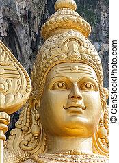 Giant statue of Murugan at the Batu Caves near Kuala Lumpur