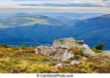 Giant stone on the edge