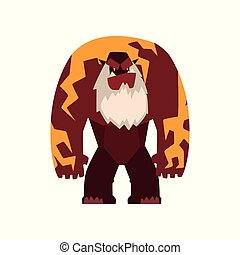 Giant strong fantasy magical creature character vector Illustration on a white background