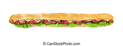 Giant Sub - Giant ham, tomato, lettuce, cheese and onion sub...