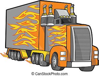Giant Truck Vector Illustration