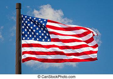 Giant US Flag Flies