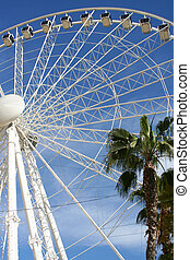 giant ferris wheel in Seville, Spain