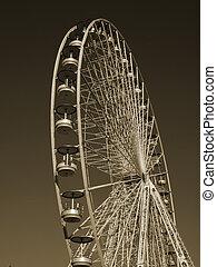 Giant wheel in the Parisian Garden of Tuileries