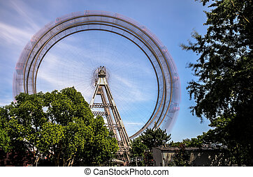 Giant Wheel Vienna with long time exposure