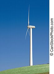 A giant windmill generator.